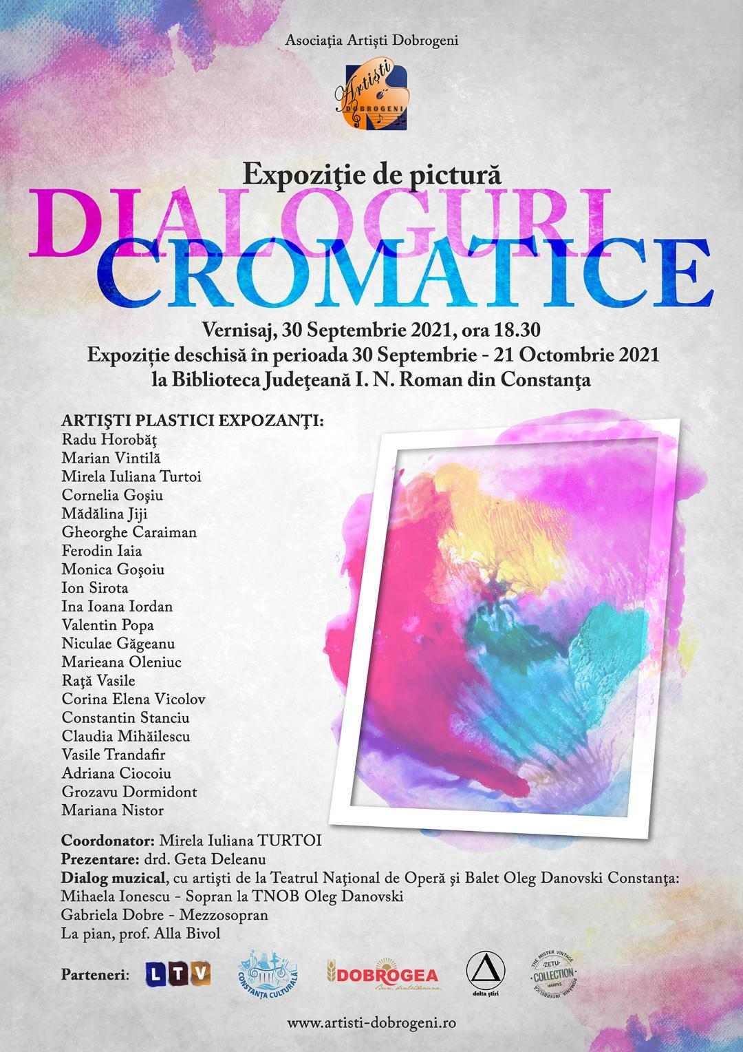 """Expozitie de pictură """"Dialoguri cromatice"""" - Vernisaj  30.09.2021"""