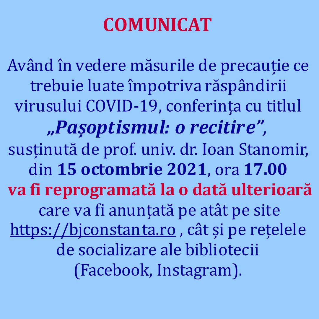 Comunicat 13.10.2021