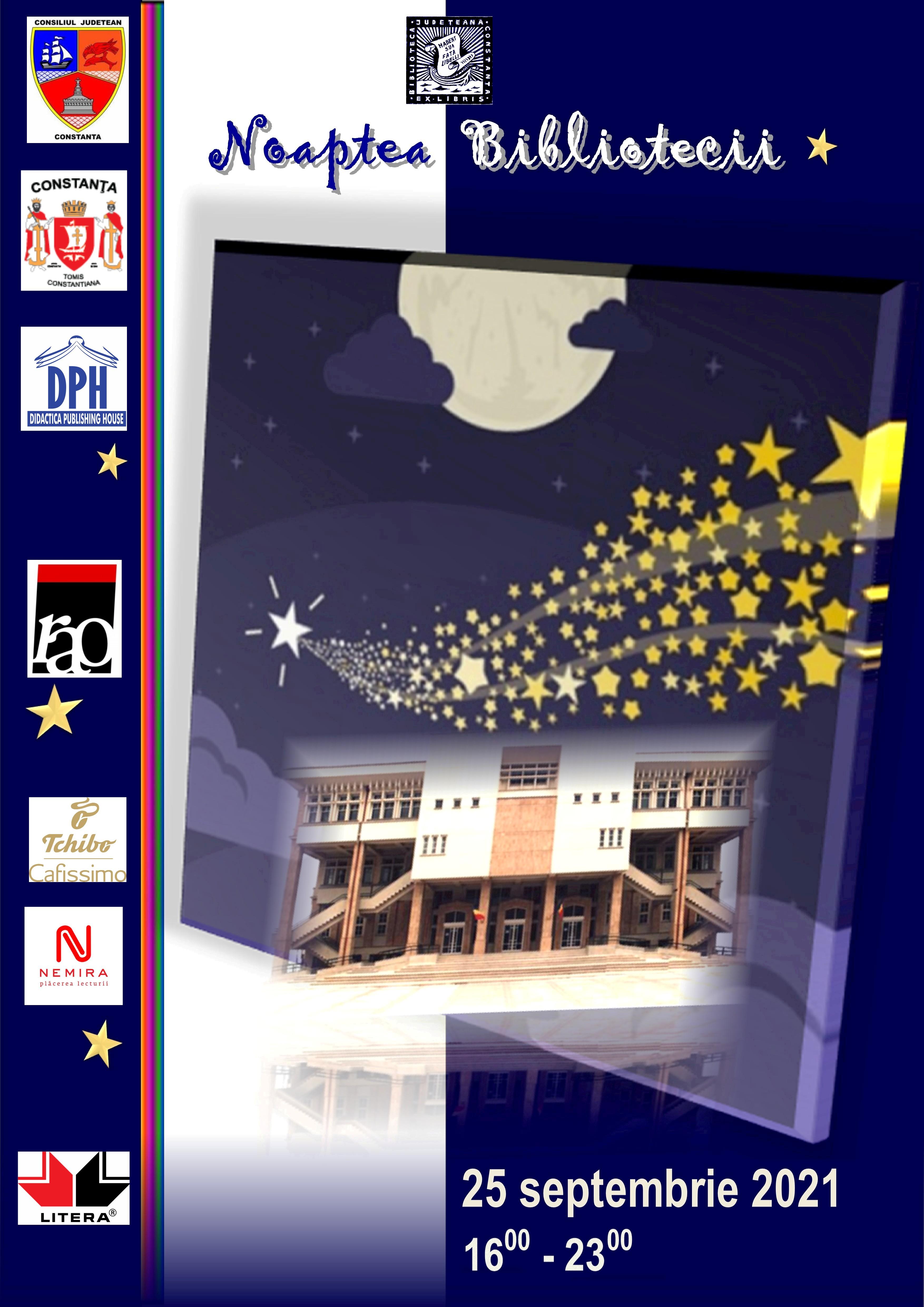 Noaptea Bibliotecii  - 25 septembrie 2021